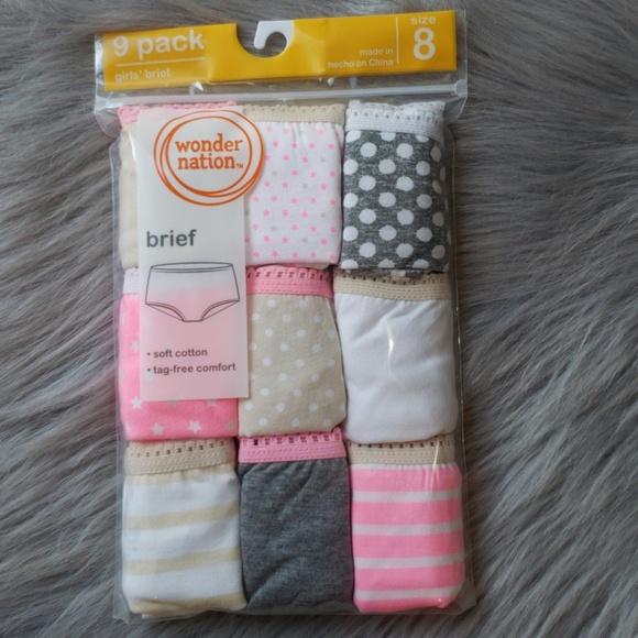 dee307c230f ⭐9 Pairs of Girls Briefs Underwear
